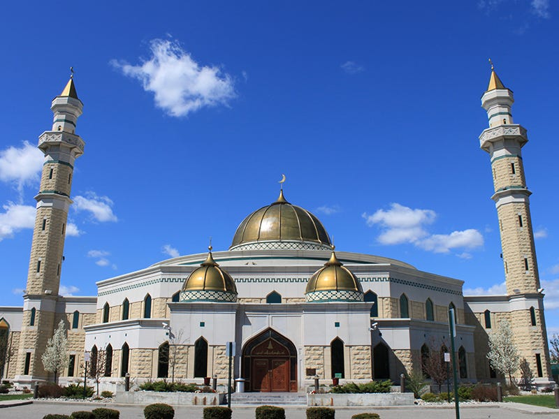 Islamic Center of America, Dearborn, Michigan: The largest mosque in North America, mirroring the design of traditional mosques found in the Middle East, serves as a leader for Muslims on an international scale and a valuable resource for community members of all faiths.