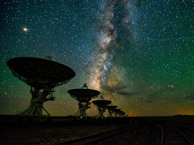 Very Large Array, Socorro County, New Mexico: Twenty-seven radio dishes make up this radio astronomy observatory in the vast New Mexico desert, which helped discover ice on the planet Mercury.