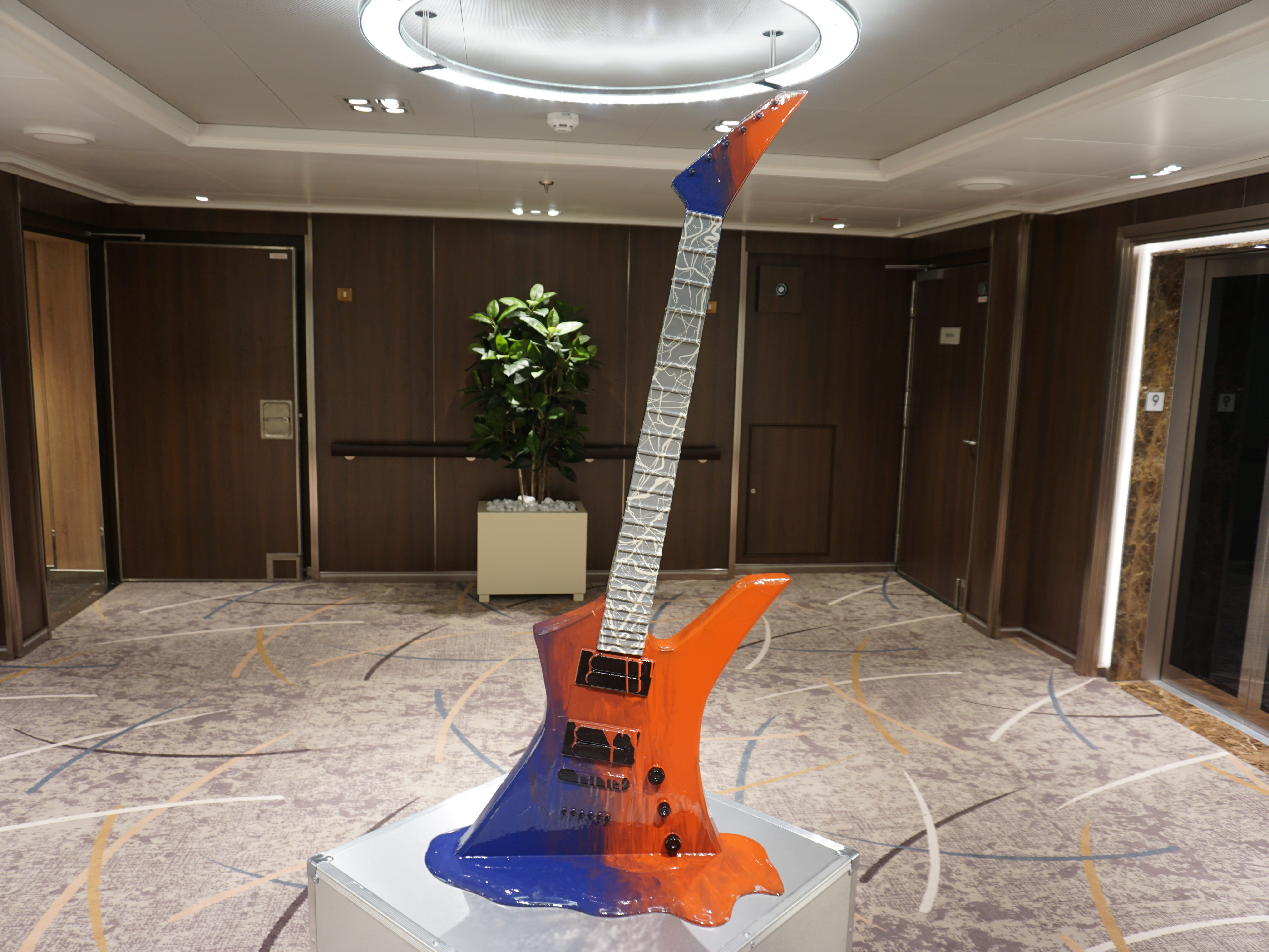 Music-themed art specifically curated for the Nieuw Statendam can be found in just about every vestibule, nook, cranny and stairtower landing.