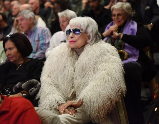 "PALM SPRINGS, CA - JANUARY 07:  Actress Carol Channing attends the World Premiere of ""Broadway Beyond the Golden Age"" at the 27th Annual Palm Springs International Film Festival on January 7, 2016 in Palm Springs, California.  ( Photo by Vivien Killilea/Getty Images for PSIFF) ORG XMIT: 598649311 ORIG FILE ID: 503946534"