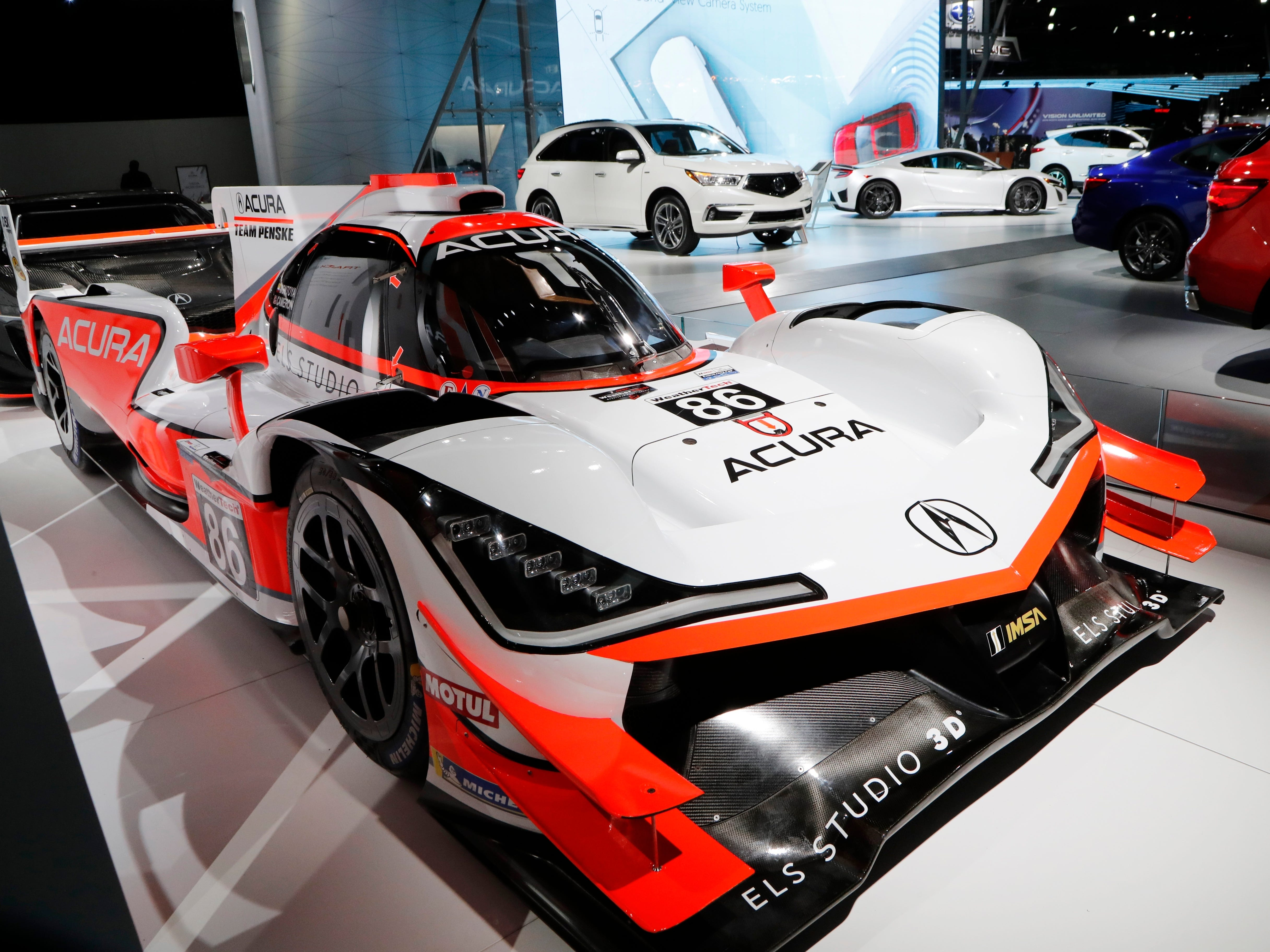 The Acura ARX -05 prototype racing sports car.