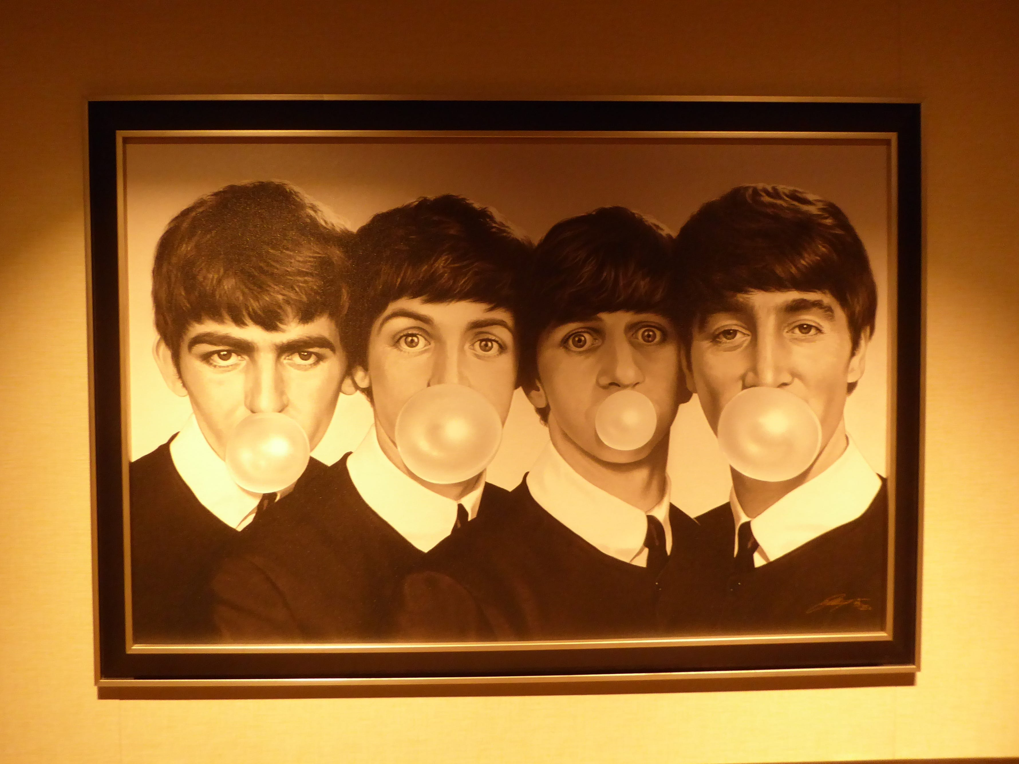 This painting of the Beatles may be one of the most revered artworks on board the Nieuw Statendam.