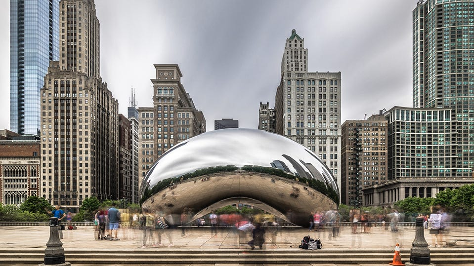 Millennium Park, Chicago: Millennium Park transformed an abandoned industrial site into a park that pulls Daniel Burnham's plan for Chicago into the modern era. The park houses celebrated examples of art, architecture and gardens, and open space from which to enjoy the Chicago skyline.
