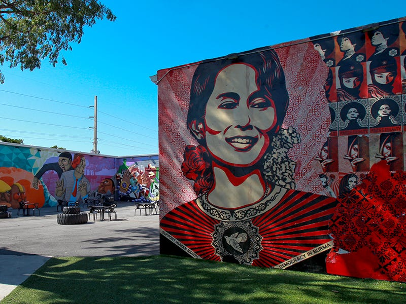 Wynwood Walls, Miami: Since launching during Art Basel in 2009, the warehouses in Miami's Wynwood neighborhood have functioned as a vibrant outdoor gallery featuring murals by dozens of artists from around the world.