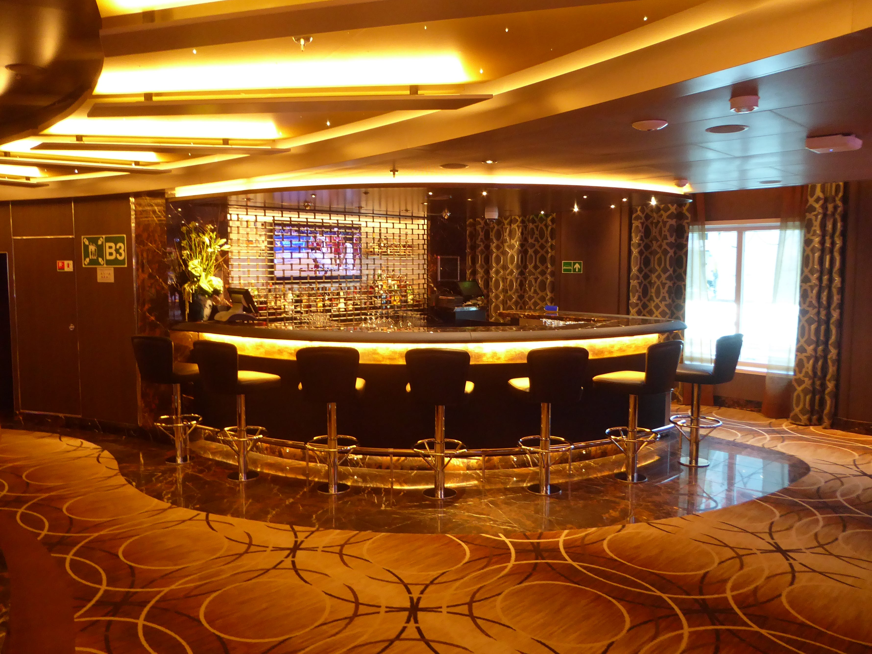 The Casino has its own dedicated bar area.