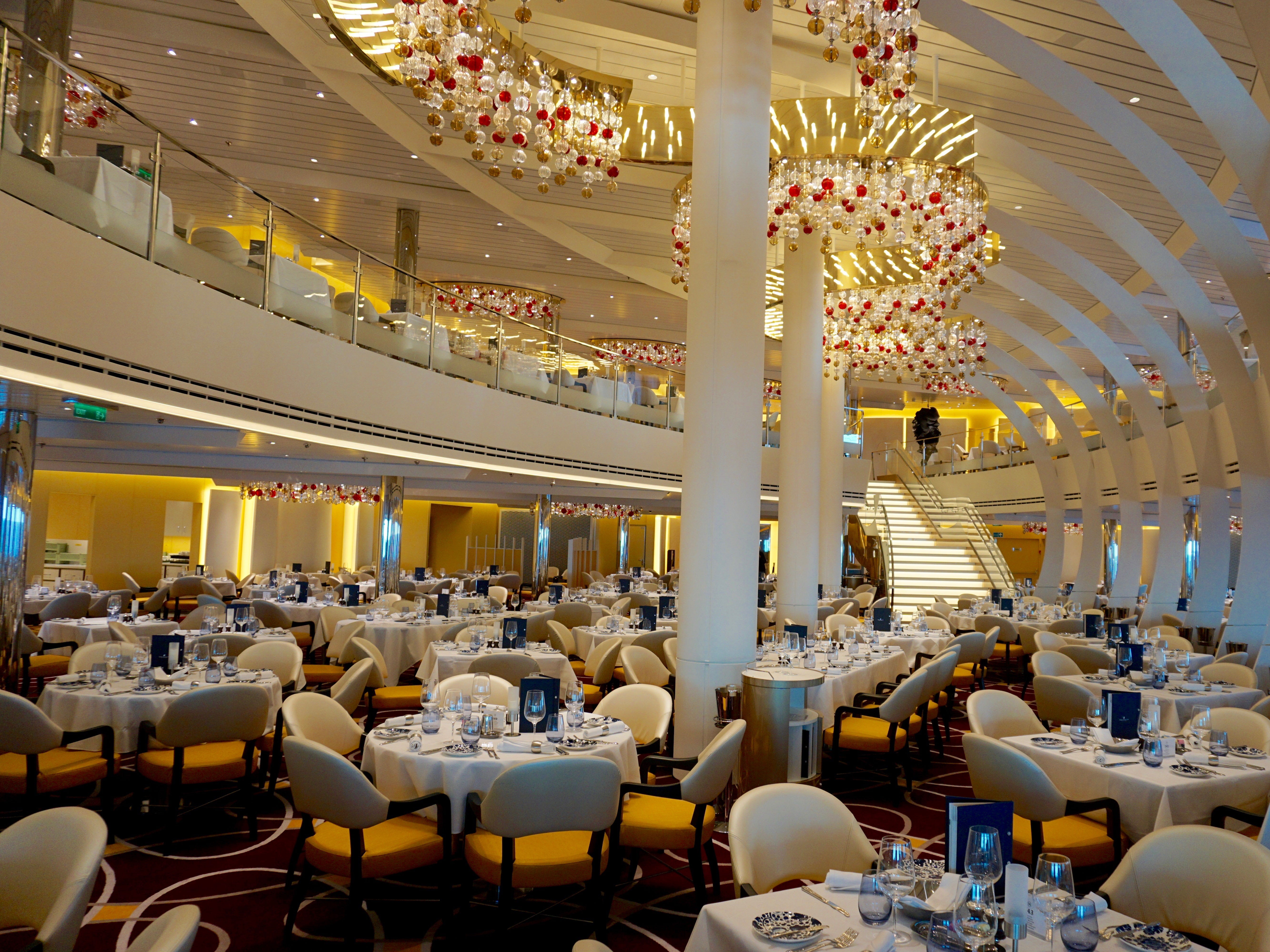 The lower level of the spectacular Dining Room completes the lineup of public spaces on Deck 2.