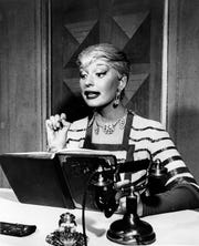 """Carol Channing is shown in the role of Lorelei Lee in the original Broadway production of """"Gentlemen Prefer Blondes"""" at the Ziegfeld Theatre in New York City in 1950.  The musical comedy opened on Dec. 8, 1949.  (AP Photo)"""