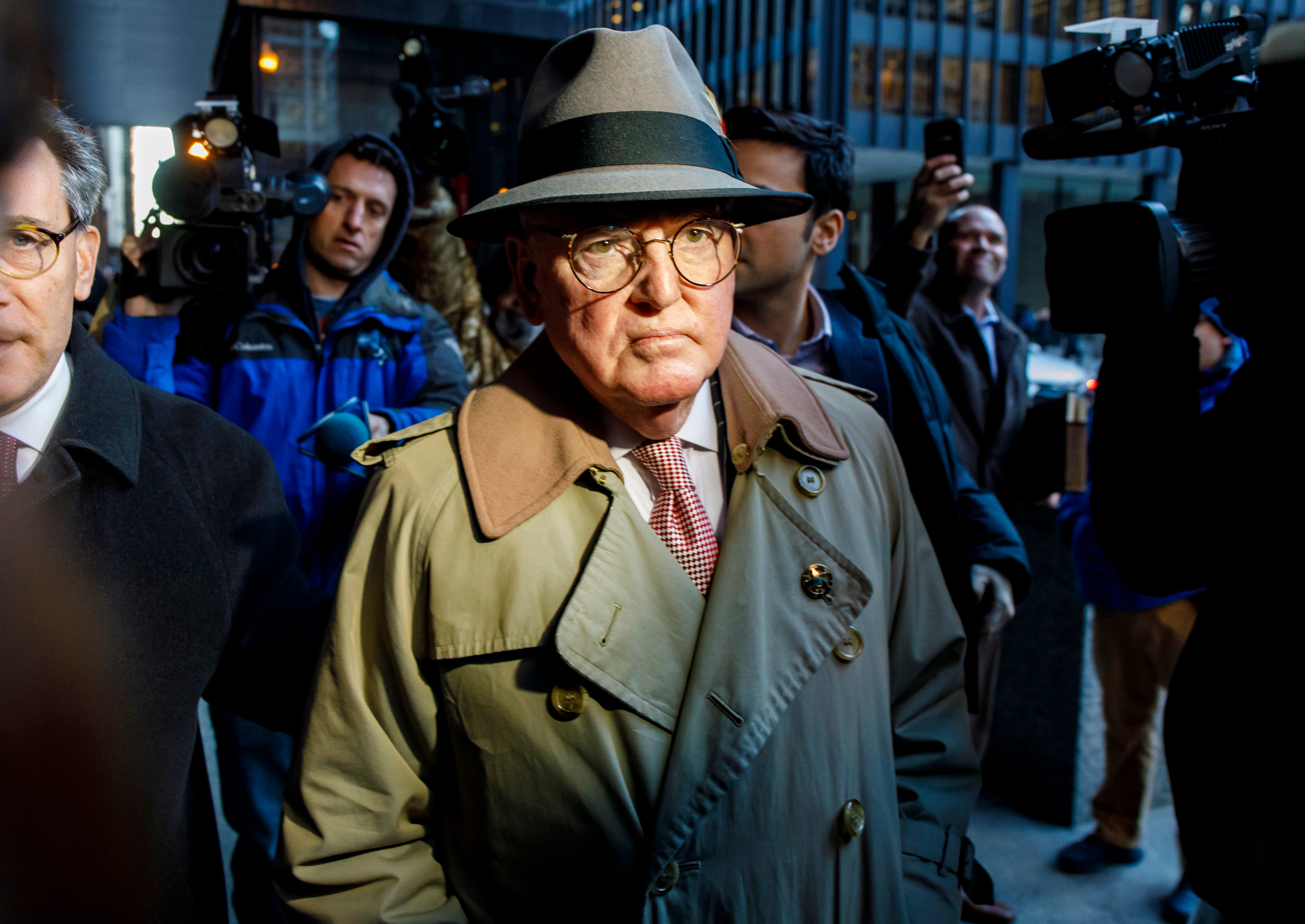 Alderman Ed Burke, 75, walks out of the Dirksen Federal Courthouse following his release after turning himself in  Jan. 3, 2019, in Chicago. Burke, one of the most powerful City Council members in Chicago, is charged with one count of attempted extortion in trying to shake down a fast-food restaurant seeking city remodeling permits, according to a federal complaint.