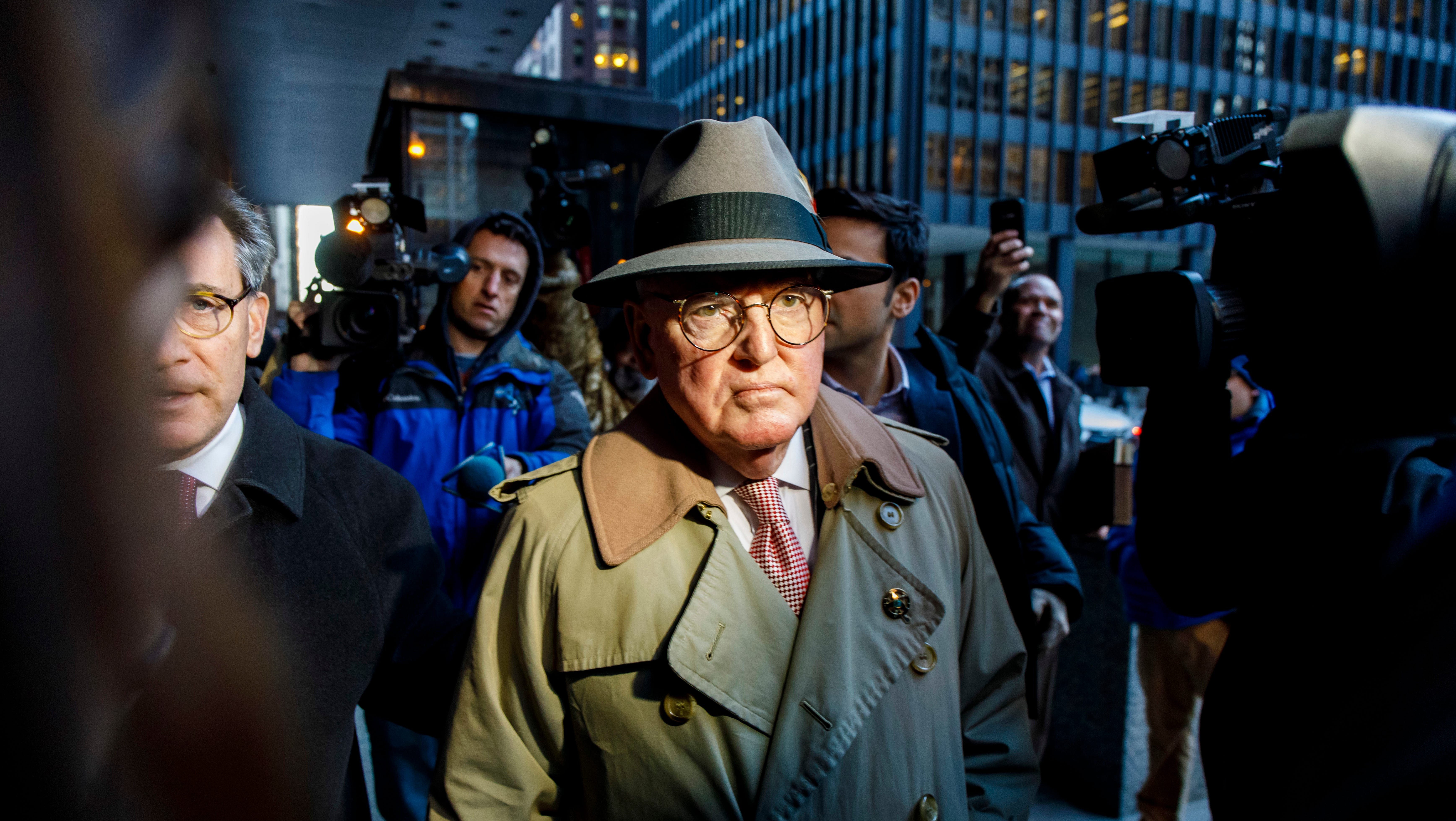 Alderman Ed Burke, 75, walks out of the Dirksen Federal Courthouse following his release after turning himself in, Thursday, Jan. 3, 2019, in Chicago. Burke, one of the most powerful City Council members in Chicago, is charged with one count of attempted extortion in trying to shake down a fast-food restaurant seeking city remodeling permits, according to a federal complaint.