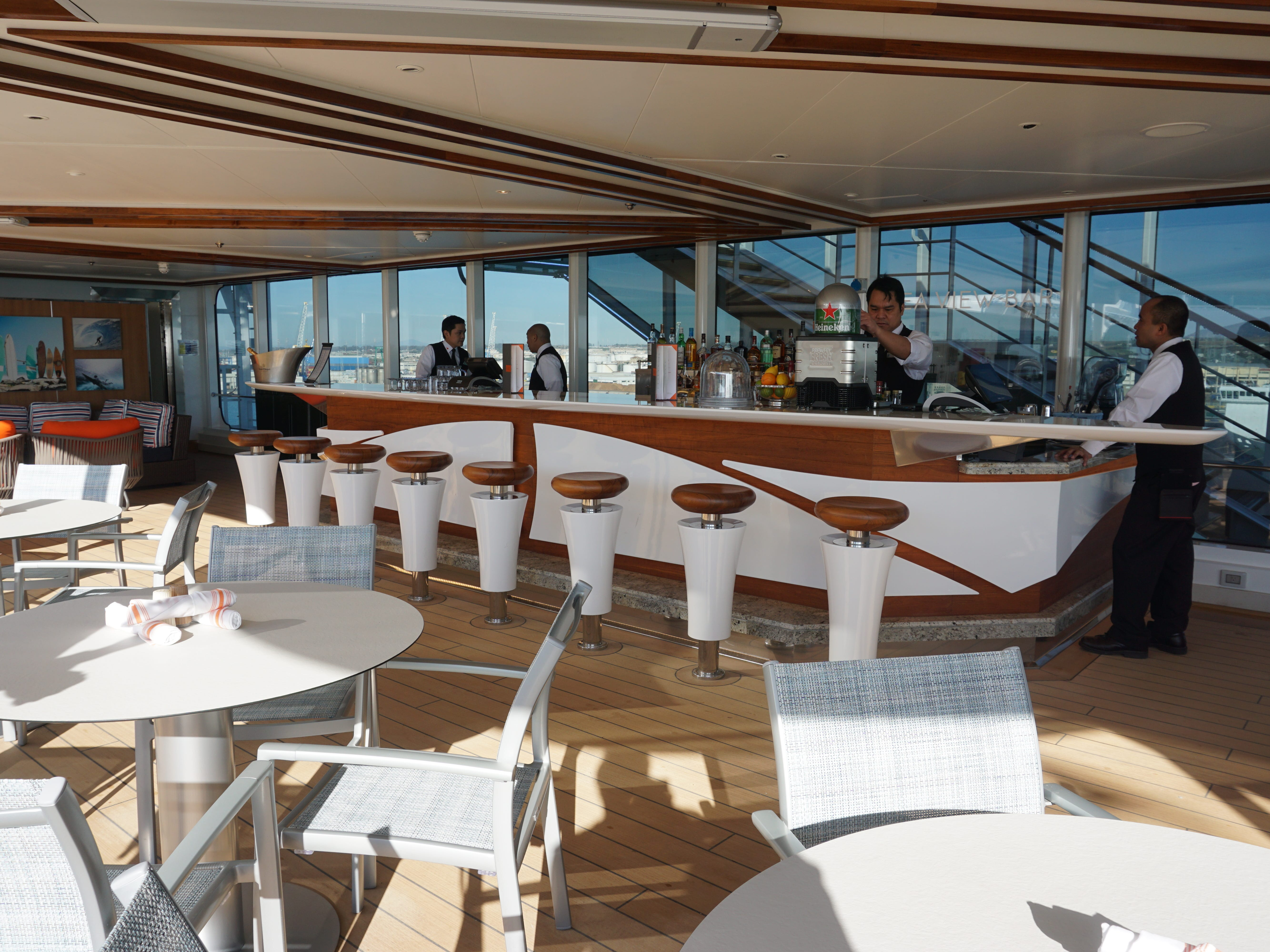 The Sea View Pool has its own dedicated bar on the starboard side.