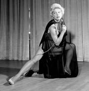 Carol Channing performs in her first nightclub opening appearance in Las Vegas, Nev., on July 9, 1957.