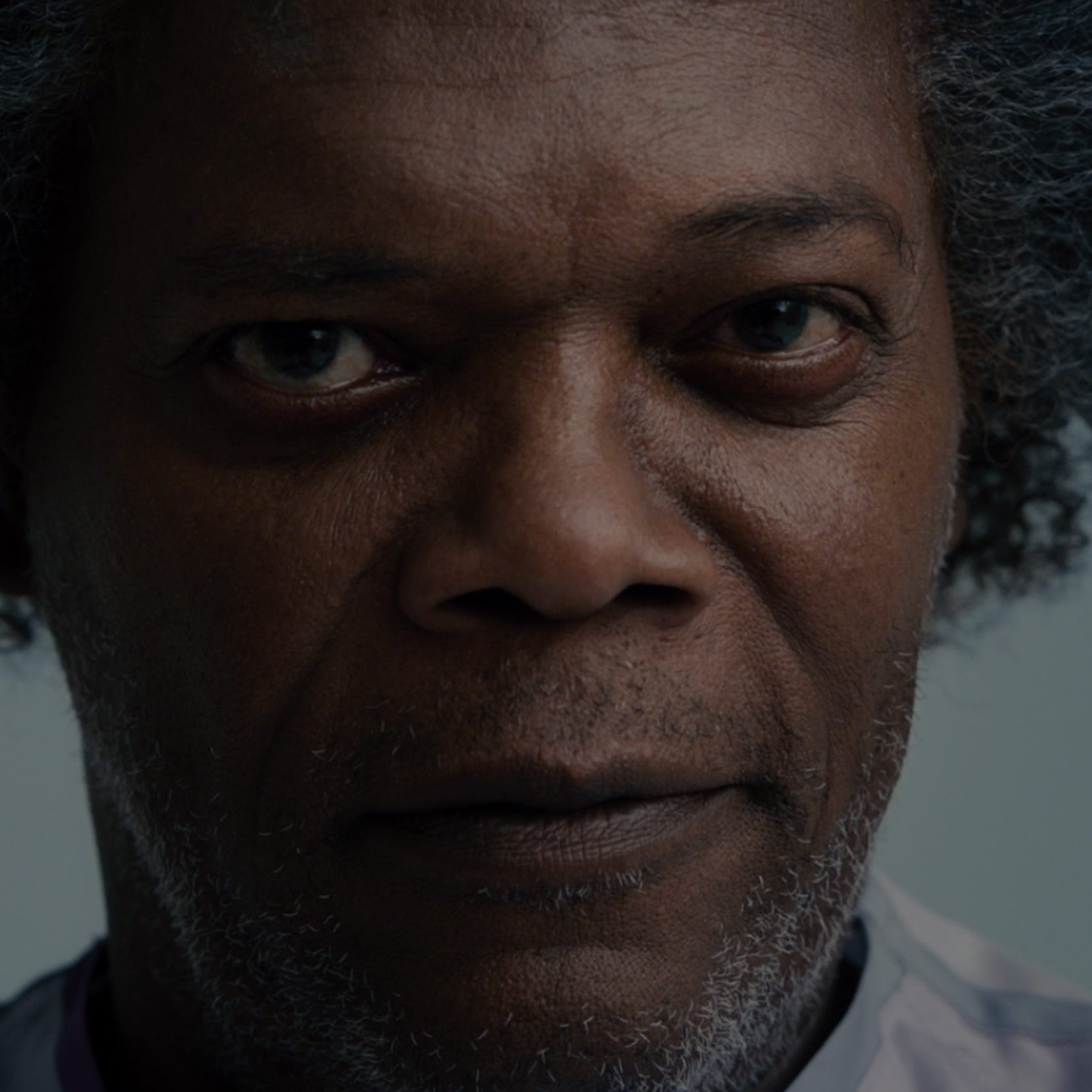 "Samuel L. Jackson reprises his ""Unbreakable"" role as Elijah Price (aka Mr. Glass) in M. Night Shyamalan's ""Glass."""