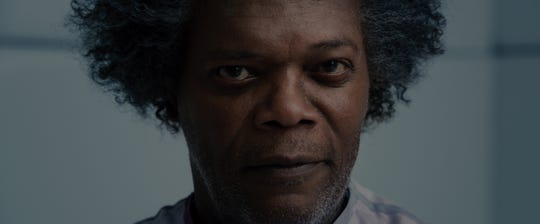 "Samuel L. Jackson reprises his ""Unbreakable"" role as Elijah Price (aka Mr. Glass) in M. Night Shyamalan's ""Glass."""