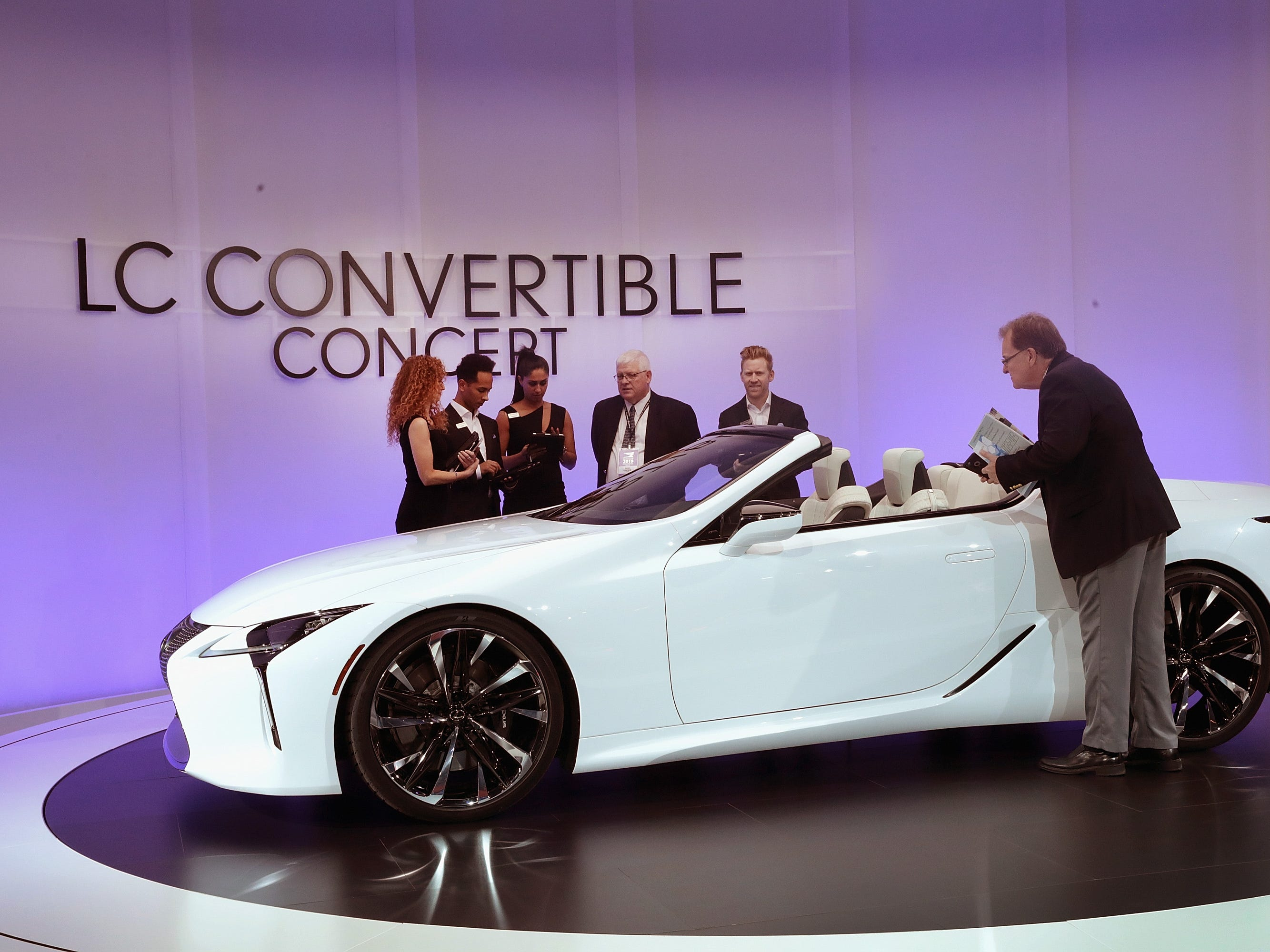 Lexus shows off the LC convertible concept.