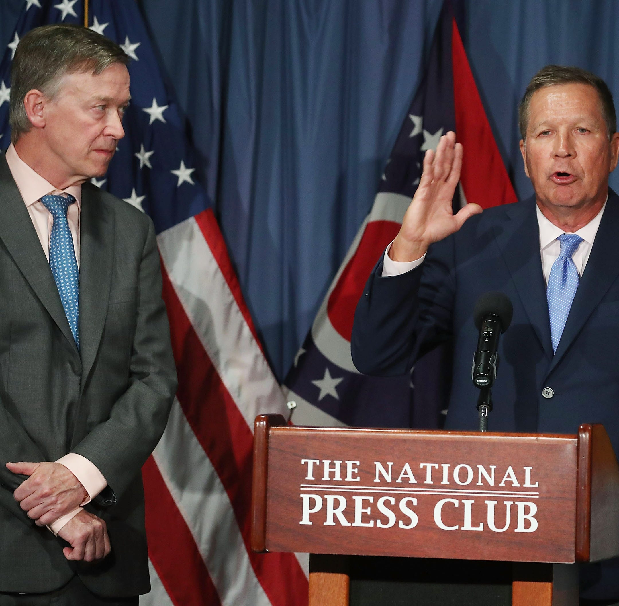 John Kasich and John Hickenlooper at the National...