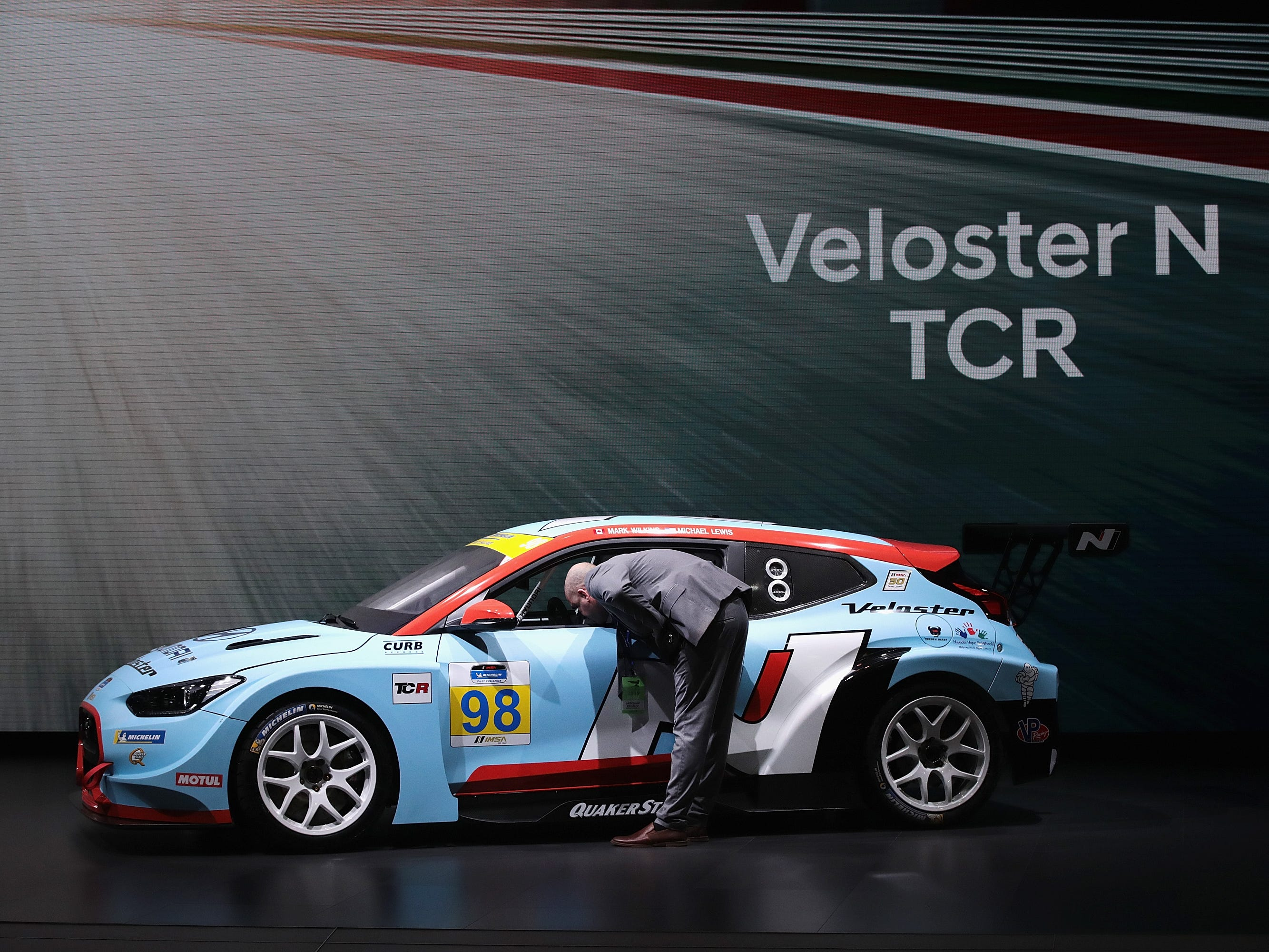 The Hyundai Veloster N TCR.