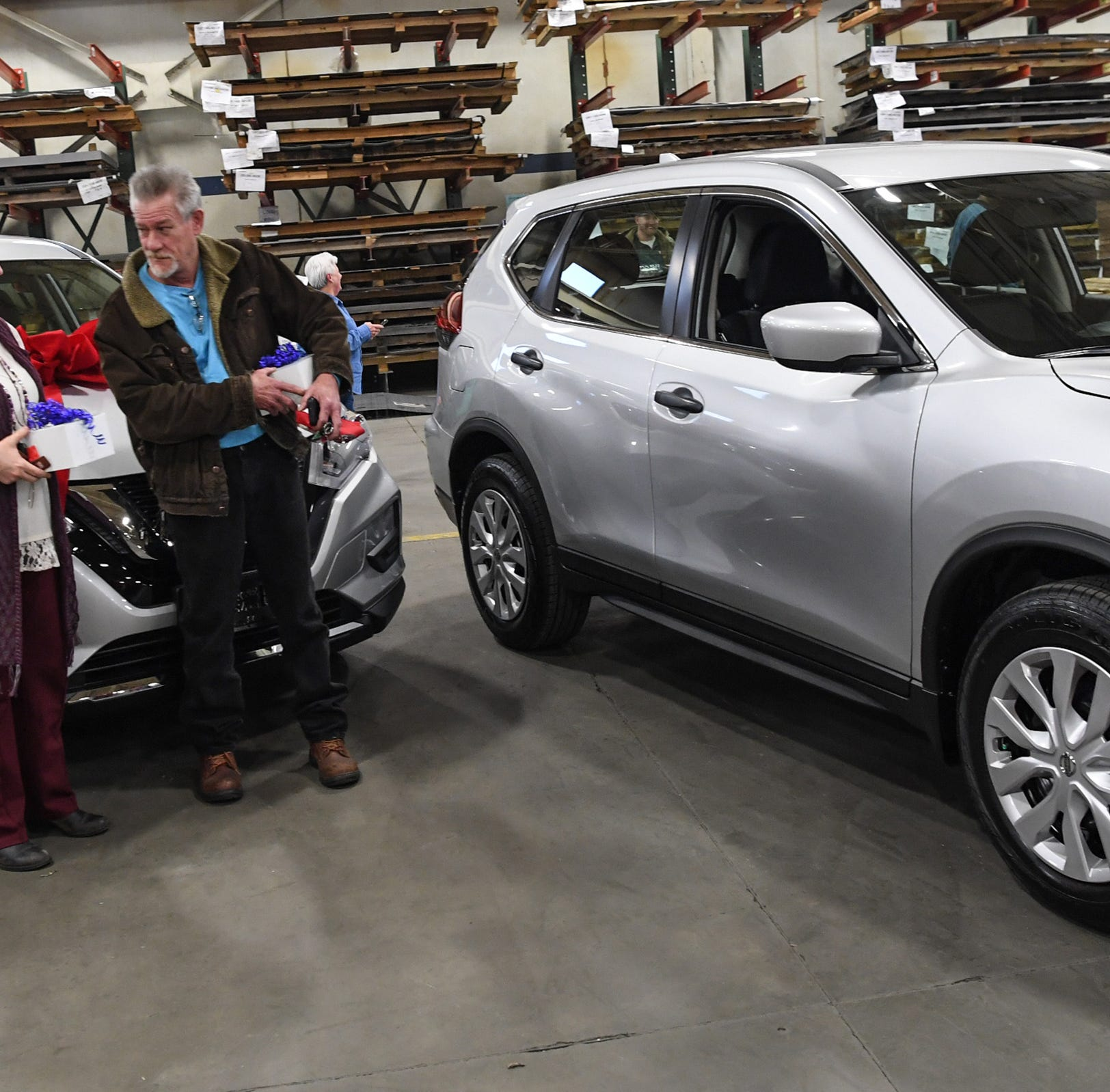 Anderson's Sargent Metal surprised 2 employees with new cars for their 40-year anniversaries