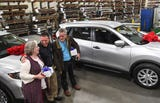 For Amanda Tiller and Doug Getsinger's 40-year work anniversary at Sargent Metal Fabricators, they each got a brand-new 2018 Nissan Rogue.