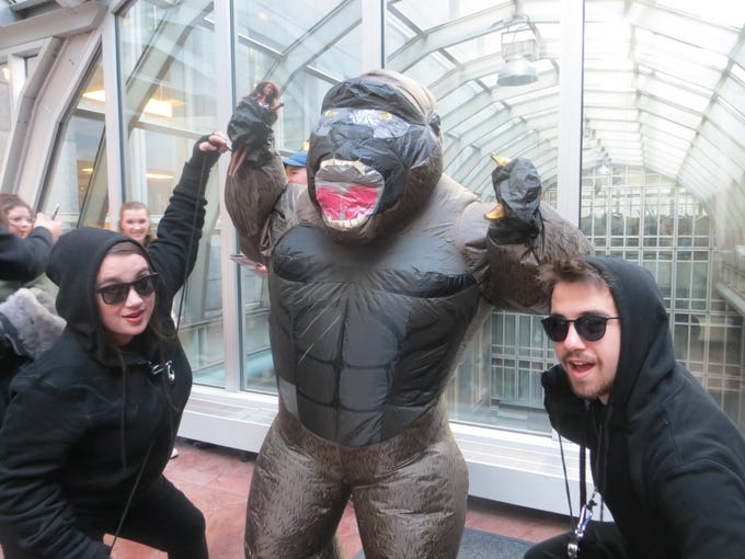 """""""King Kong"""" cosplayers at BroadwayCon 2019, held Jan. 11 to 13, 2019, at the New York Hilton Midtown in Manhattan."""