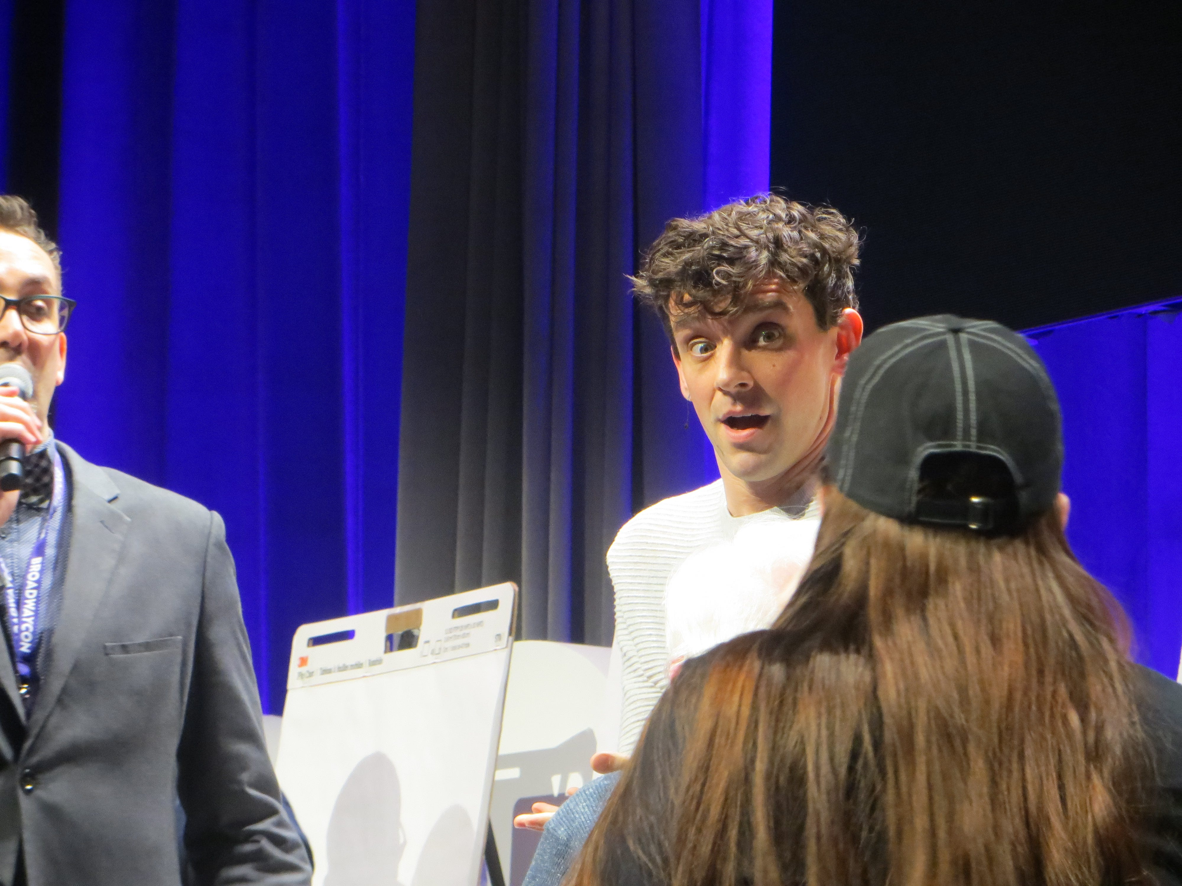 Michael Urie takes part in Game Night  at BroadwayCon 2019, held Jan. 11 to 13, 2019, at the New York Hilton Midtown in Manhattan.