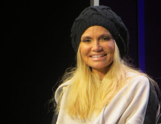 "Kristin Chenoweth surprised the crowd at the ""You're A Good Man, Charlie Brown"" reunion panel at BroadwayCon 2019, held Jan. 11 to 13, 2019, at the New York Hilton Midtown in Manhattan."
