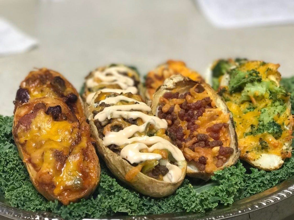 Lenny's Colonial Ranch Market in Point Pleasant makes potato skins stuffed with broccoli and cheddar and cheese and bacon, among other fillings.