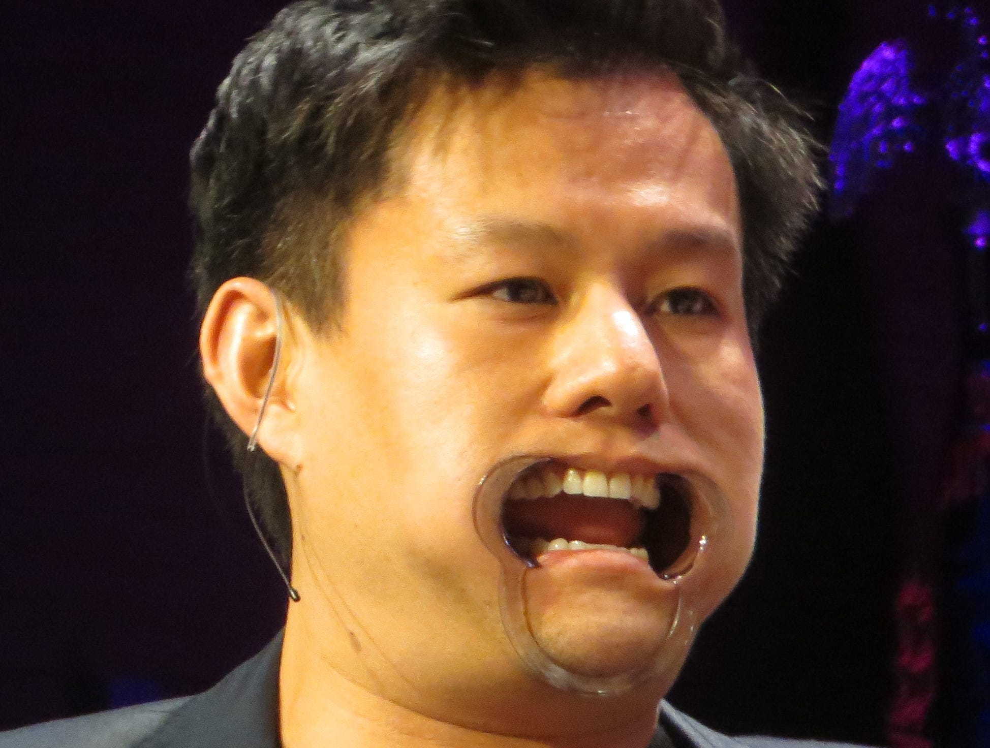 Kelvin Moon Loh takes part in Game Night at BroadwayCon 2019, held Jan. 11 to 13, 2019, at the New York Hilton Midtown in Manhattan.