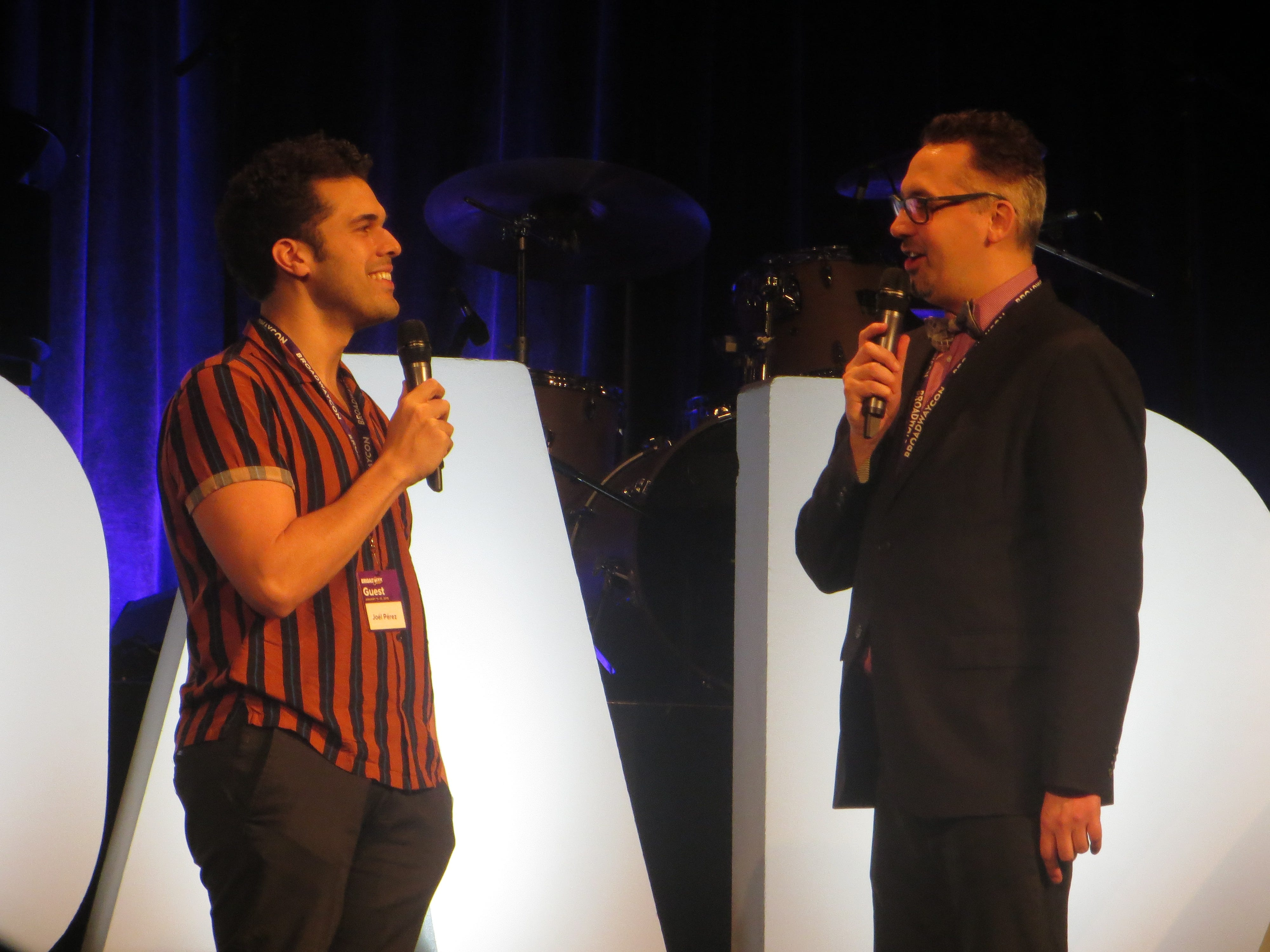 Joel Perez and Ben Cameron at BroadwayCon 2019, held Jan. 11 to 13, 2019, at the New York Hilton Midtown in Manhattan.