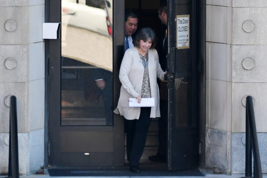 Wanda Greene leaves the Federal Courthouse in Asheville after her plea deal was accepted Jan. 16, 2019.