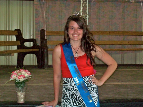 Michelle Goodrich, now 27, was crowned Miss Broome County Fair in 2008.