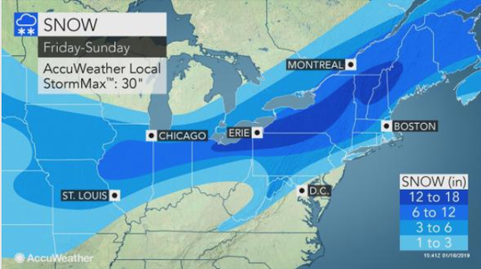 Winter Storm Harper could drop more than a foot of snow in the Southern Tier of New York this weekend.