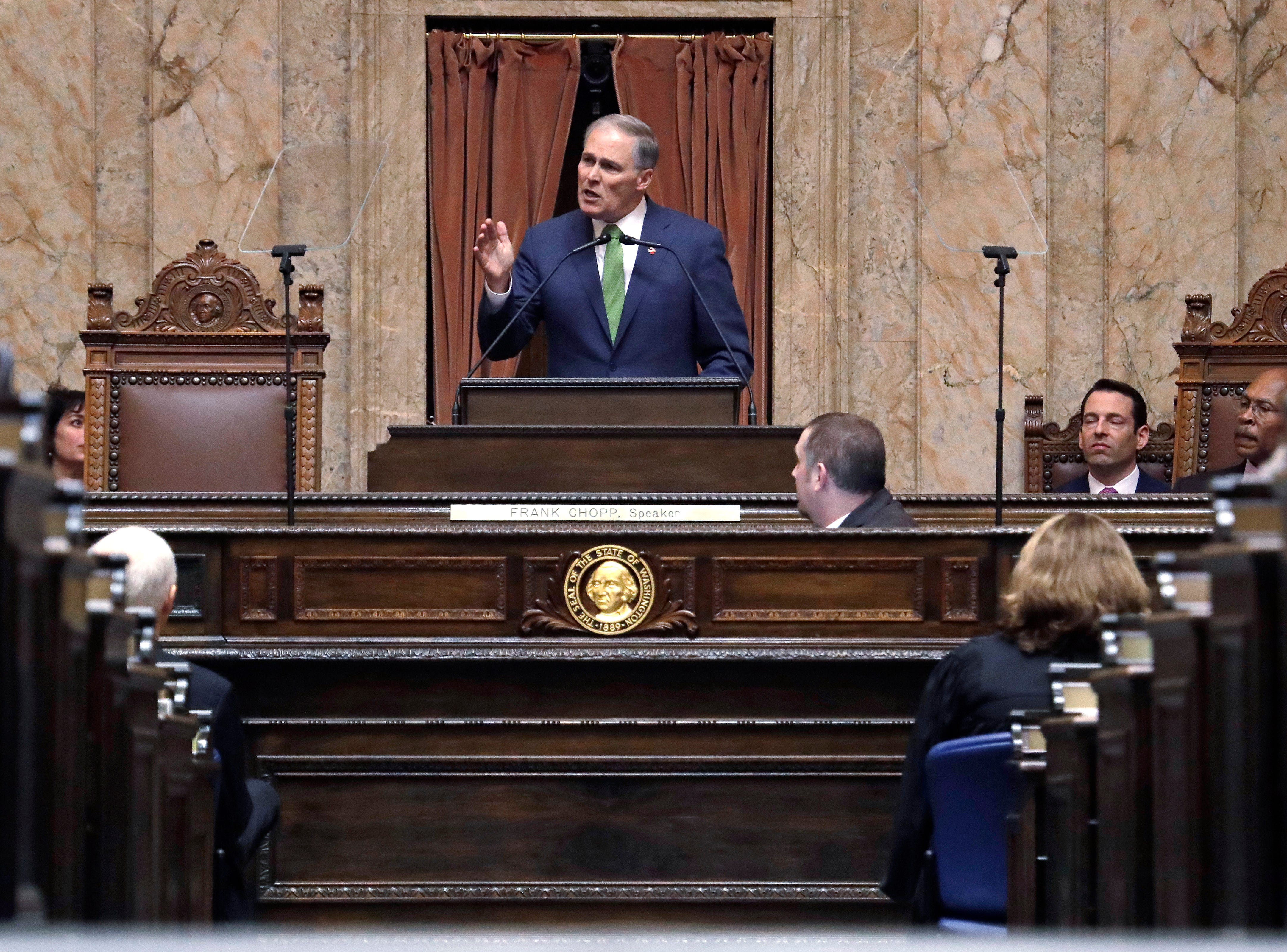 Gov. Jay Inslee gives his State of the State address.