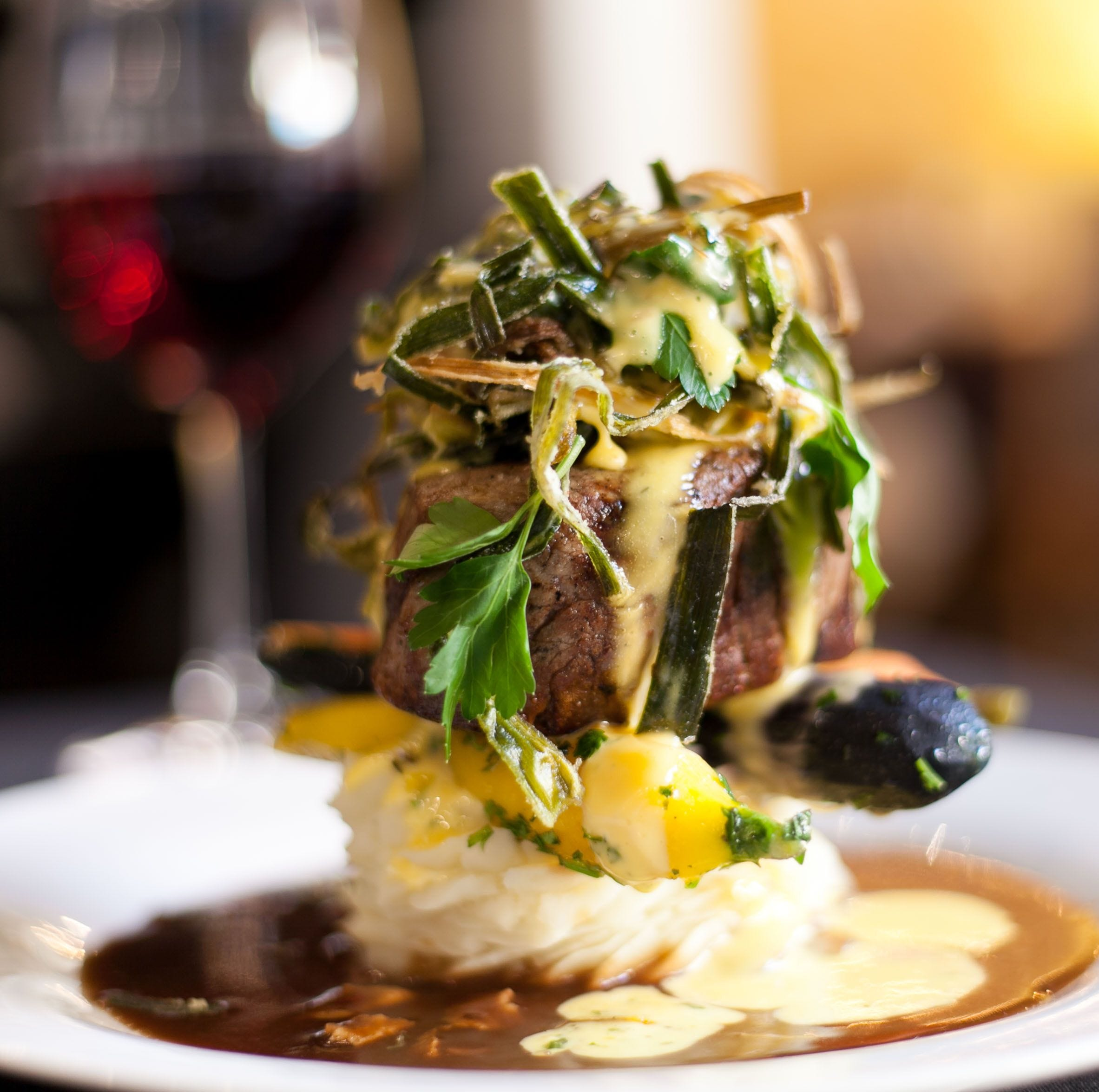 With excellent service and artful food, like this seared prime filet mignon, Cafe' Margaux in Cocoa Village topped the list of favorite high-end restaurants in Brevard.
