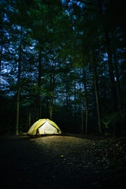 A camp site at Smugglers' Notch State Park, photographed June 9, 2018.