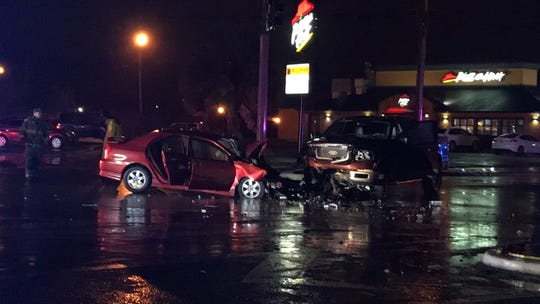 One person is dead after a two-vehicle crash on Staples Street and Baldwin Boulevard on Tuesday, Jan. 15, 2019. Corpus Christi Police Department is investigating the crash.
