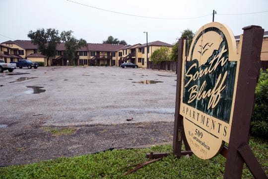 South Bluff Apartments at 509 S. Carancahua Street is lated for demoliton and reconstruction and will be called Avanti South Bluff.