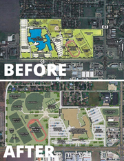 Carroll High School's site plan was updated after Navy officials expressed concern over its location. CCISD moved the campus closer to Weber.