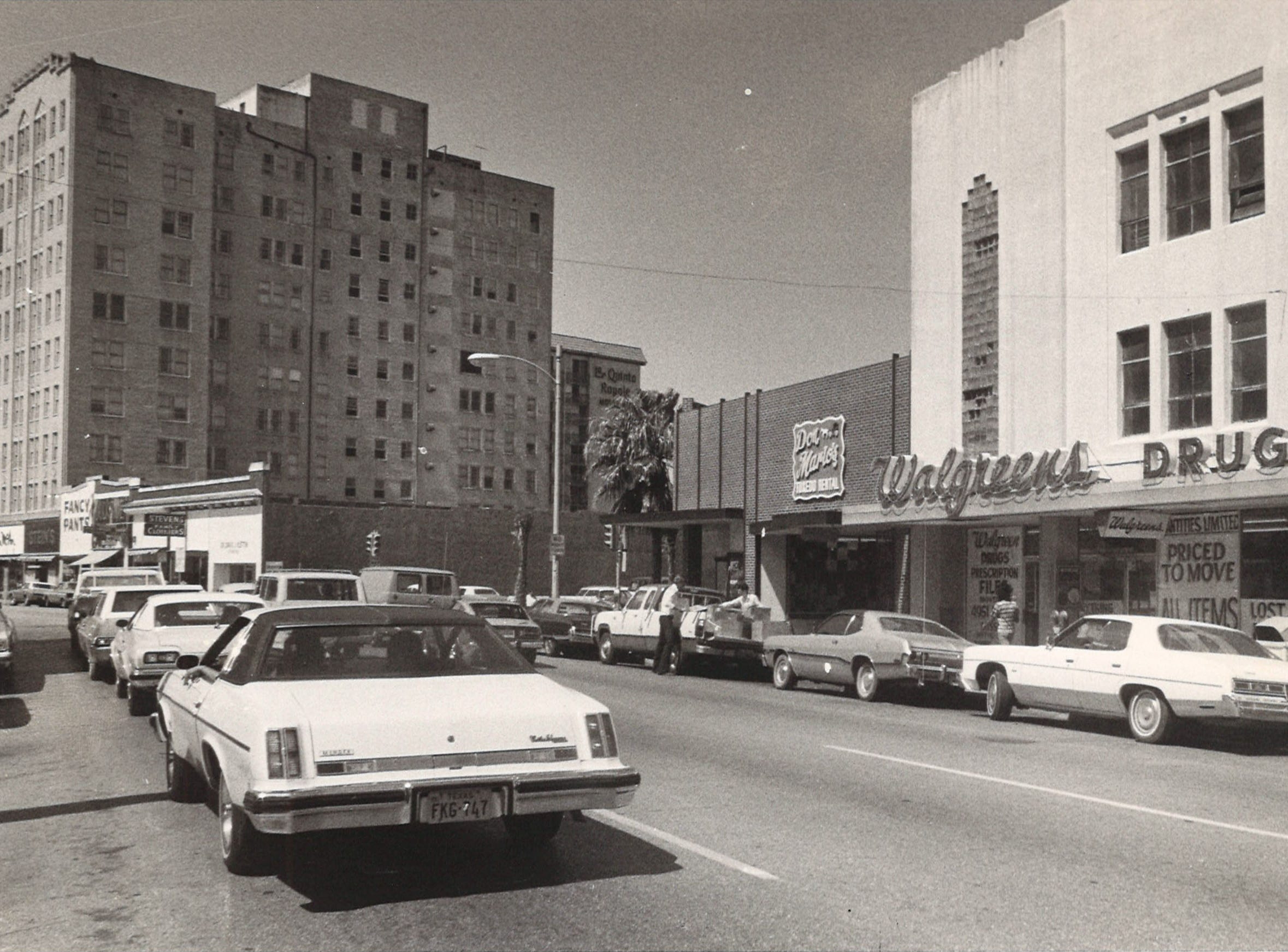 Chaparral Street in downtown Corpus Christi in July 1976.
