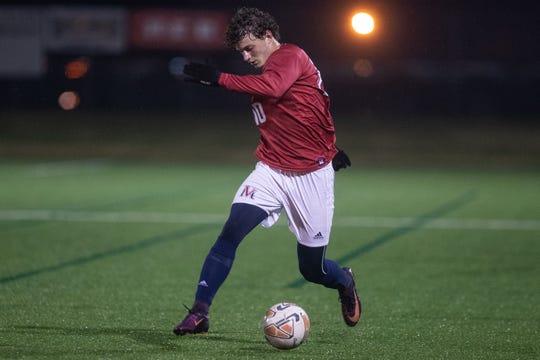 Veterans Memorial's Samuel Matthews plays Flour Bluff at Cabaniss Soccer Field on Tuesday, Jan. 15, 2019.