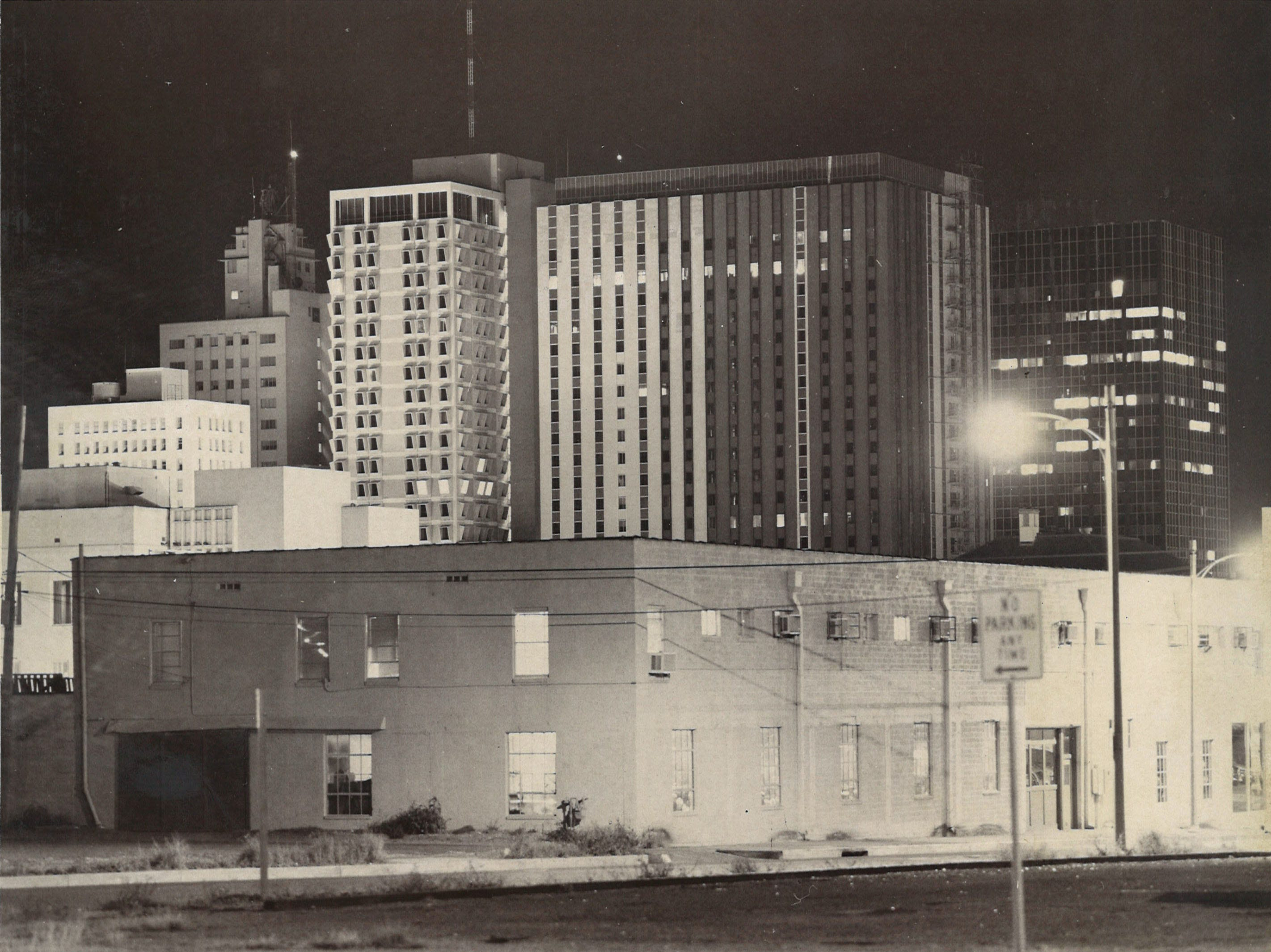 Downtown Corpus Christi in 1973 looking toward uptown.