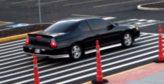 Burlington Township police say this is the car the suspect drove in after allegedly stealing credit cards and cash from a car at the Burlington Township-Burlington City border and using the cards at a local Walmart.