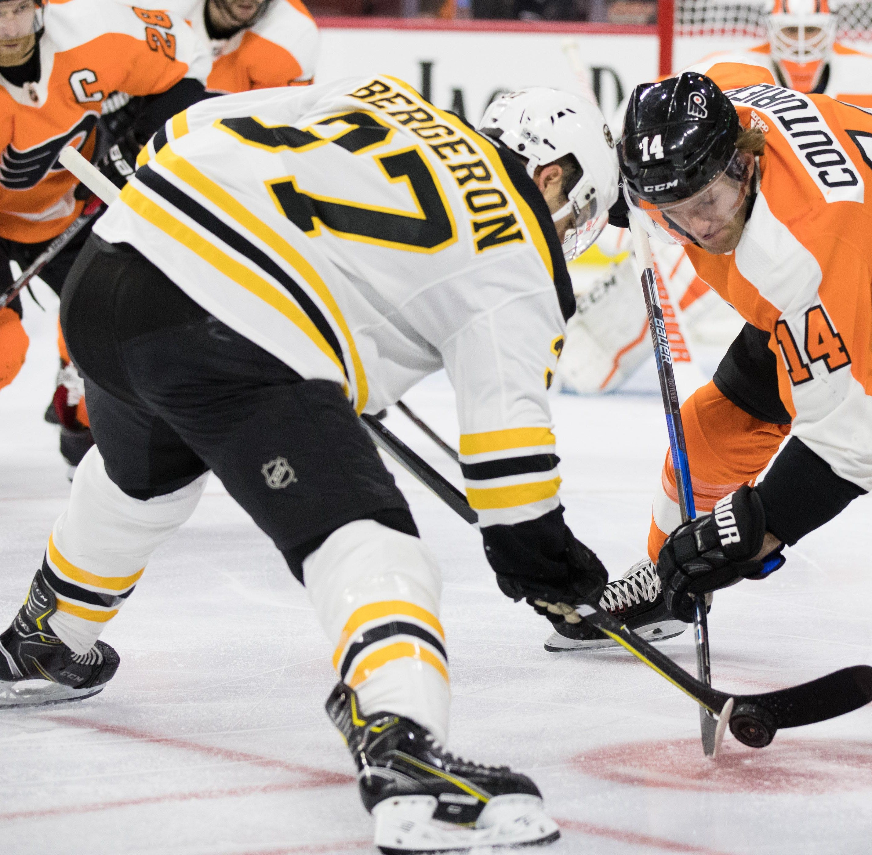Selke battle for Sean Couturier, Patrice Bergeron goes way back