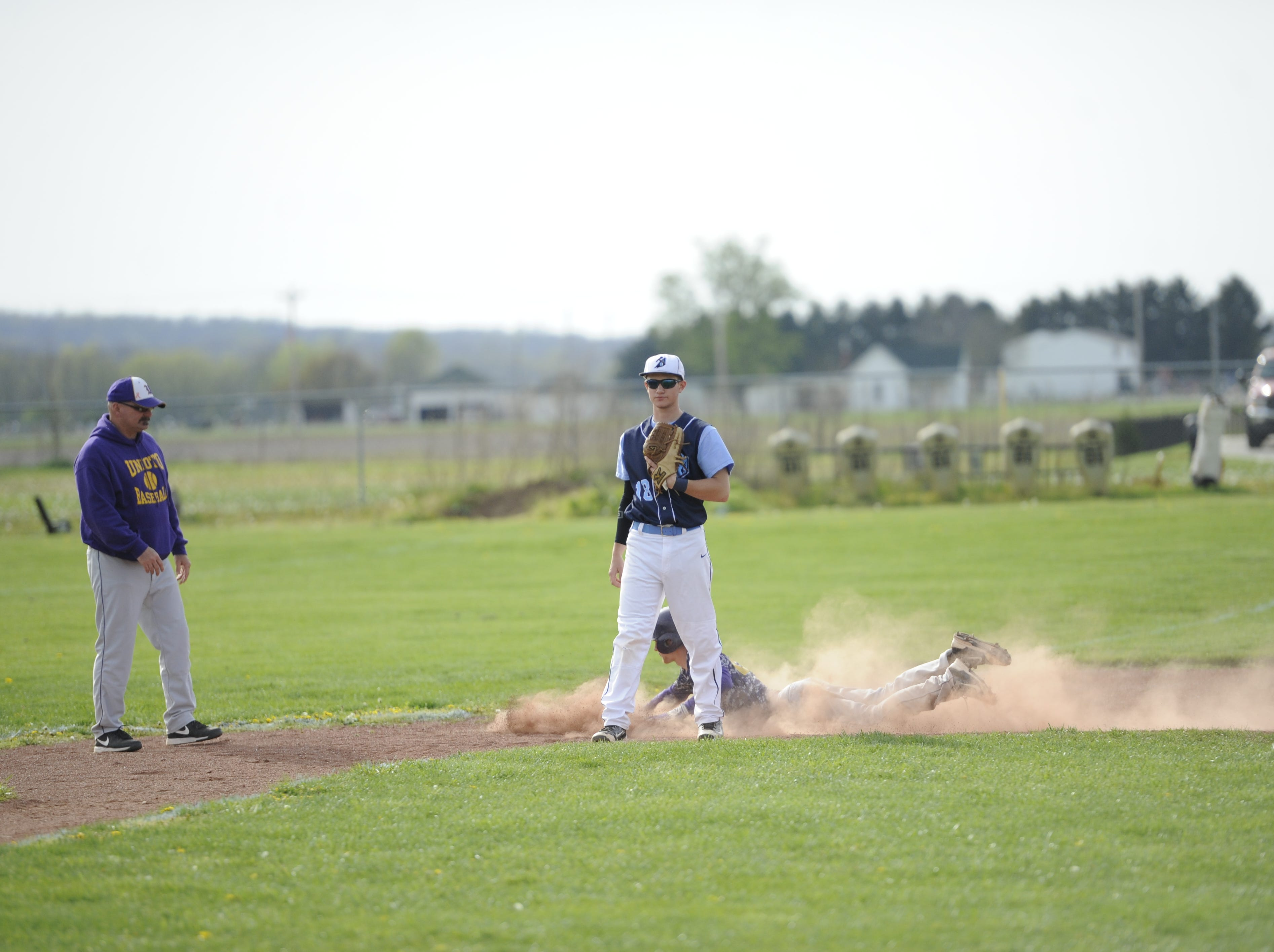 Adena boy's baseball played against Unioto at Adena on Friday. The final score was Adena 10, Unioto 9.