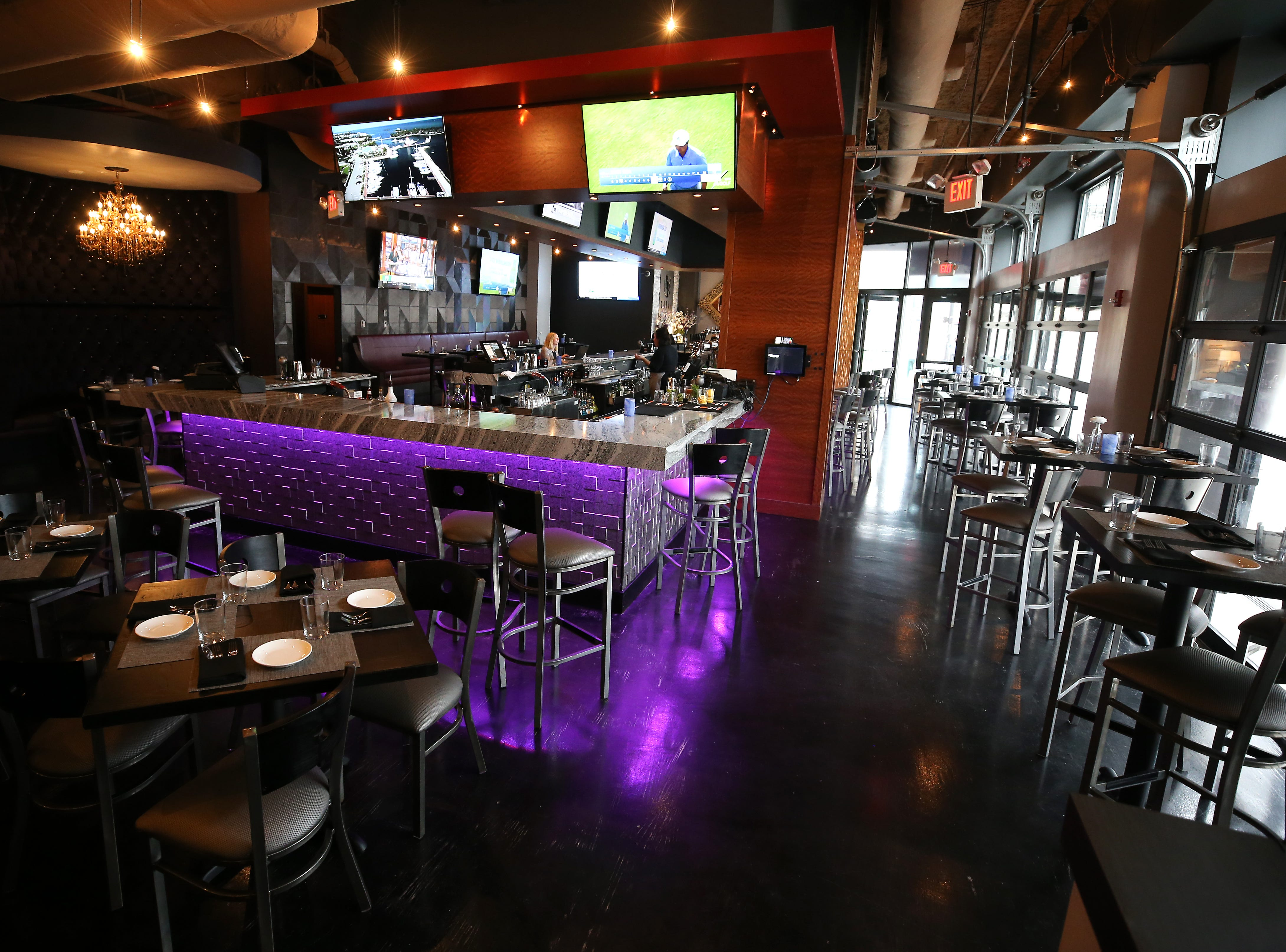 View of the main bar and seating, pictured, Tuesday, Jan. 15, 2019, at Galla Park restaurant at The Banks in Cincinnati.