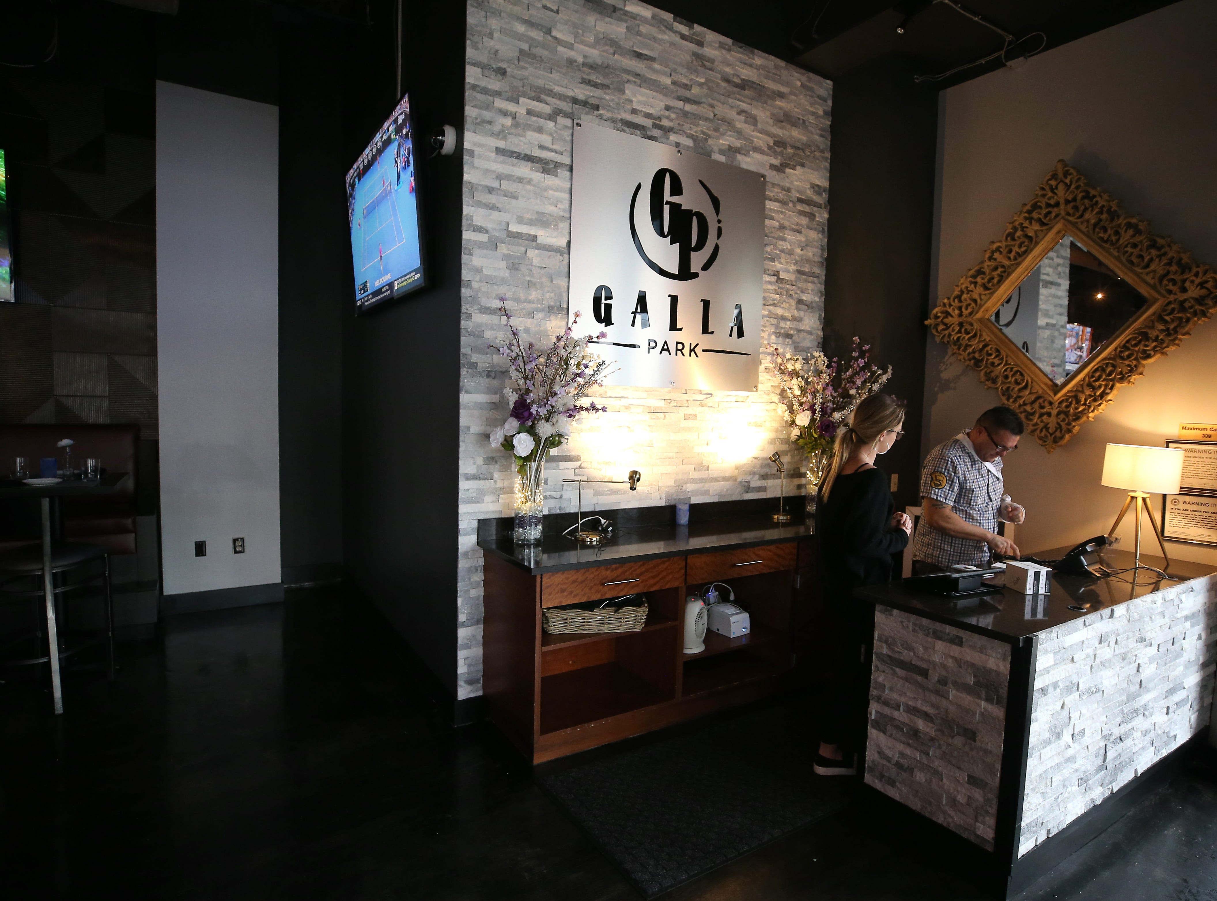 View of the foyer near the main bar, pictured, Tuesday, Jan. 15, 2019, at Galla Park restaurant at The Banks in Cincinnati.