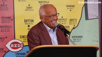 Cincinnati Reds play-by-play announcer Marty Brennaman answers questions  following the announcement he will retire at the end of the 2019 season.