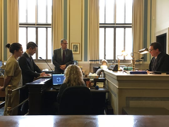 Kathryn Carmen's sentencing in Hamilton County Common Pleas Judge Robert Winkler's courtroom Wednesday, Jan. 16, 2019.