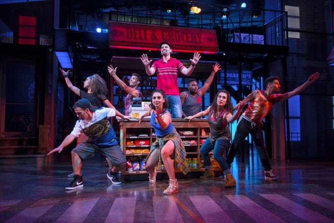 """The cast of Playhouse in the Park's co-production of """"In The Heights,"""" which features music and lyrics by Lin-Manuel Miranda (""""Hamilton"""") and a script by Quiara Alegría Hudes. The original production won several Tony Awards, including one for best musical."""