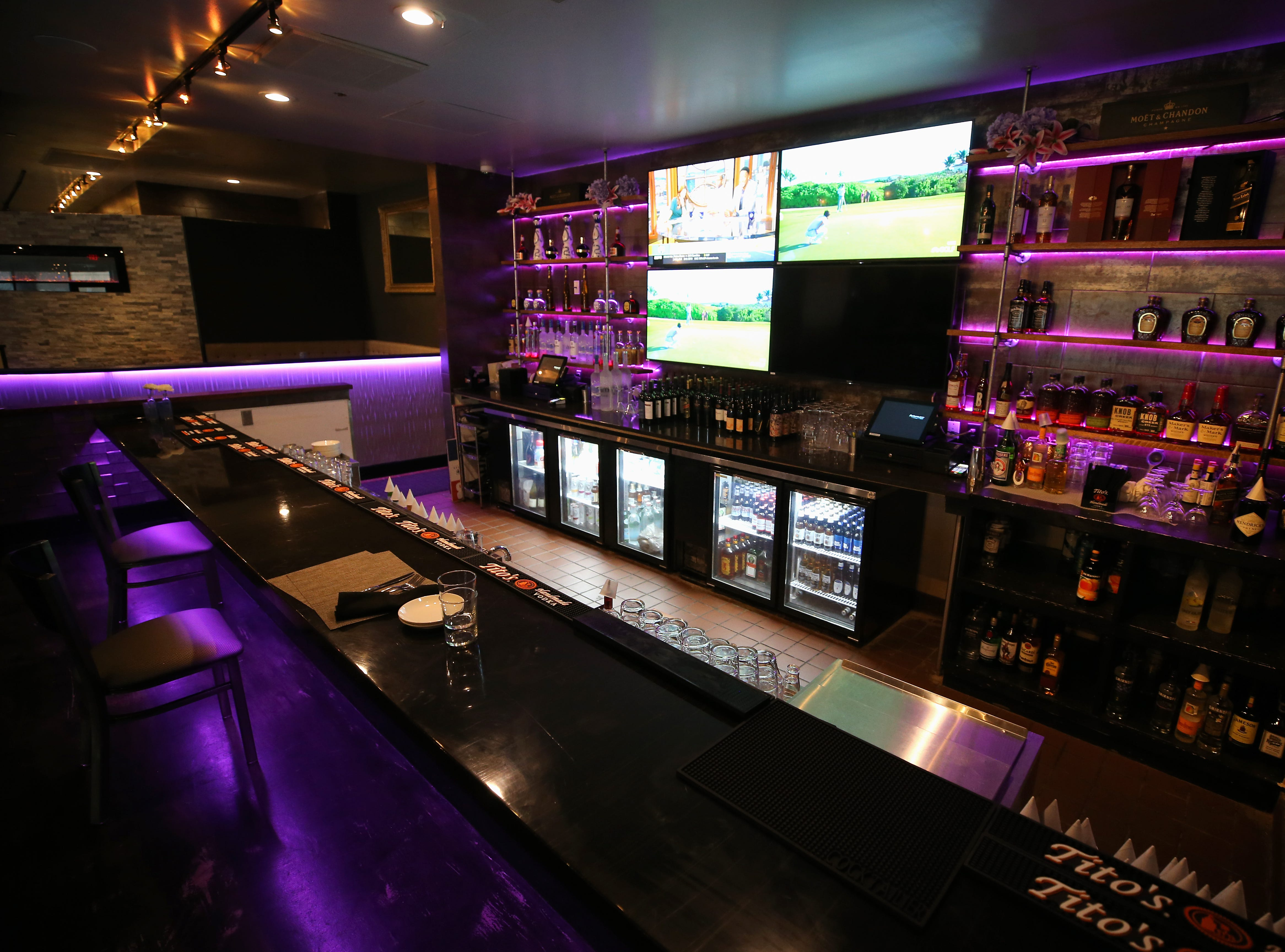 View of the lower bar, pictured, Tuesday, Jan. 15, 2019, at Galla Park restaurant at The Banks in Cincinnati.