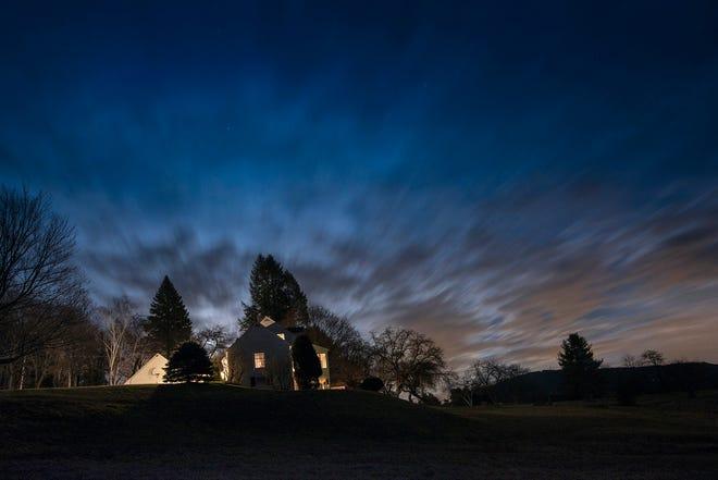 """Kay Kenny, """"Full Moon Rising,"""" (2015) long exposure night photograph"""